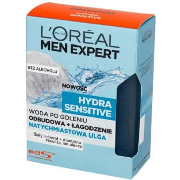 Woda po goleniu dla mężczyzn LOREAL MEN EXPERT 100 ml. Odpowiednia dla skóry wrażliwej.