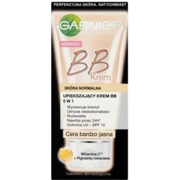krem BB 5 w 1 skóra normalna cera bardzo jasna GARNIER 50ml - błyskawicznie upiększa skórę.
