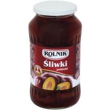 Rolnik - Śliwki połówki 720ml. Pyszny, owocowy kompot.