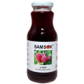 Sok z malin, 250 ml - Sam Sok. Wyprodukowany z wyselekcjonowanych, świeżych owoców.