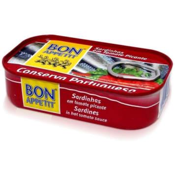 BON APPETIT Sardynki portugalskie w pikantnym sosie pomidorowym 120g