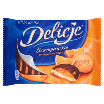 DELICJE SZAMPAŃSKIE Chocolate topped cakes with orange flavoured jelly 2.94 kg
