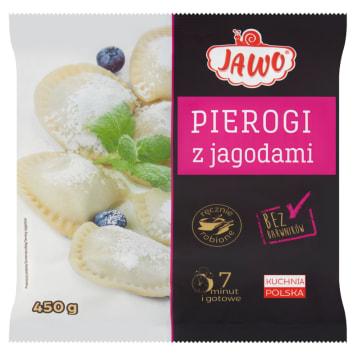 Pierogi z jagodami-Jawo. Szybki i sycący obiad dla całej rodziny.