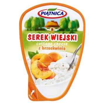 Serek wiejski z brzoskwinią-Piątnica. Pyszne źródo białka, wpania i cennych kultur bakterii.