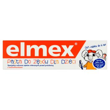 Pasta do zębów dla dzieci - Elmex. Uczucie kompfortu podczas codziennego mycia zębów.
