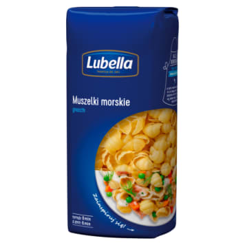 Makaron muszelki morskie - Lubella. Wysoka jakość i wyjątkowy smak.