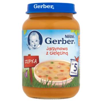 Gerber- Zupka jarzynowa z cielęciną po 5 m bez konserwantów.