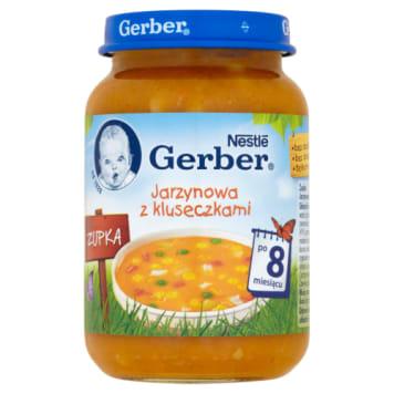 Gerber - Zupka Jarzynowa z kluskami po 8 miesiącu 190g to szybkie i pełnowartościowe danie.