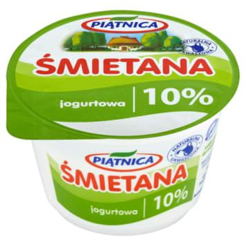Śmietana 10% - PIĄTNICA. Naturalny produkt, bez zawartości konserwantów.