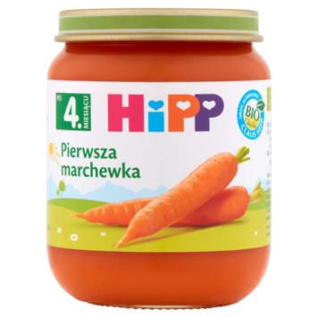 Pierwsza marchewk Bio- Hipp warzywa. Uzupełnienie diety dzieci po 4 m. życia.