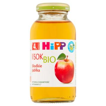 Hipp - Sok Słodkie Jabłka Bio - po 4 miesiącu. Stworzony z myślą o  niemowlakach.
