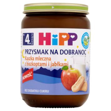Hipp Przysmak na Dobranoc - Kaszka mleczna z biszkoptami. Pyszny i zdrowy.