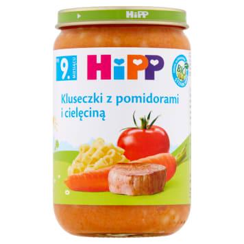 Hipp Kluseczki z pomidorami i cielęciną po 11. miesiącu przygotowują dziecko do stałych posiłków.