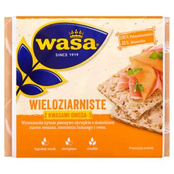 Pieczywo chrupkie wieloziarniste Wasa ma bogaty skład, zawiera m.in. owies i sezam.