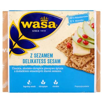 Pieczywo chupkie z sezamem - WASA. Wypiekane jest z pełnego ziarna żytniego.