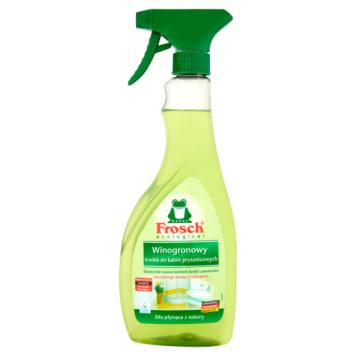 Płyn do mycia kabin prysznicowych - Frosch o przyjemnym zapachu winoron. Skutecznie czyści.