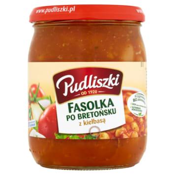 Pudliszki-Fasolka po bretońsku z kiełbasą to pomysł na szybki i smaczny obiad.