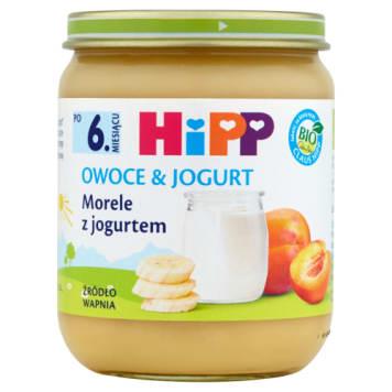 Hipp Owoce&Jogurt Morele z jogurtem Bio po 6. miesiącu dostarcza wapnia najmłodszym