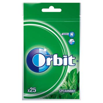 Guma do żucia ORBIT Spearmint, torebka 25 szt/35g. Bez cukru, dba o zdrowie i czystość zębów.