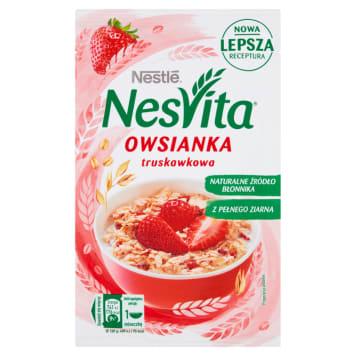 Nestlé NesVita - Płatki owsiane z mlekiem i truskawkami. Szybki i łatwy w przygotowaniu posiłek.