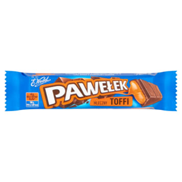 Baton czekoladowy z nadzieniem toffi - Pawełek - Wedel