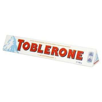Czekolada biała - TOBLERONE. Niepowtarzalny kształ jak i smak.