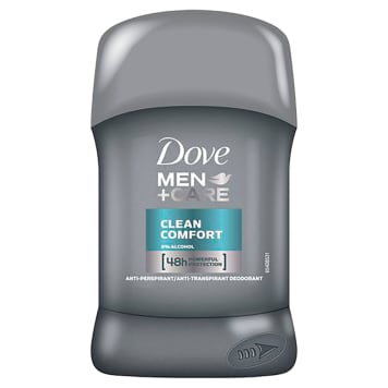 Dove Men + Care Antyperspirant Clean Comfort sztyft chroni skórę przed podrażnieniami.