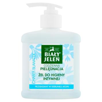 Żel do higieny intymnej - Biały Jeleń. Specjalnie opracowana formuła z bławatkiem do codziennej higieny.