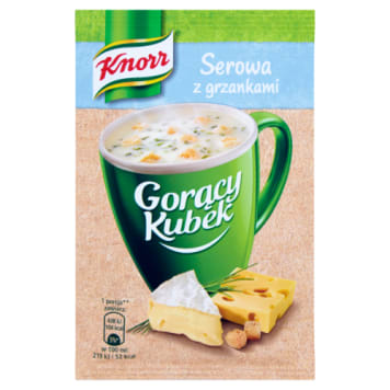 KNORR Gorący Kubek Cheese Soup with croutons 22g