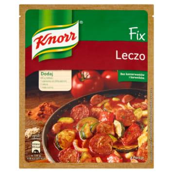 Knorr Fix – leczo, 35 g. Można dodawać dowolne składniki lub te polecane w instrukcji.