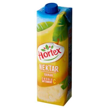Hortex - Nektar bananowy, 1000 ml. Doskonały dodatek do codziennej diety dla dorosłych i dzieci.