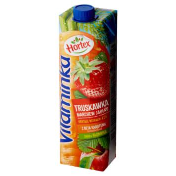 Hortex - Vitaminka Sok marchwiowo-jabłkowo-truskawkowy jest pyszny i zawiera zestaw witamin.