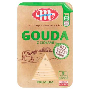 Mlekovita Ser gouda w plastrach z ziołami to sposób na smaczne kanapki ze źródłem wapnia i białka.