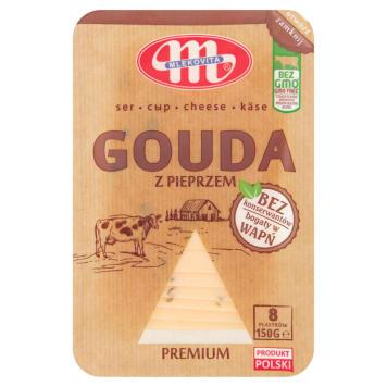 Mlekovita - Ser Gouda z pieprzem w plastrach. Stanowi doskonały dodatek do kanapek.