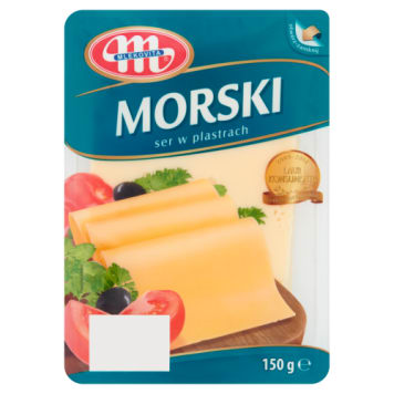 Ser morski Mlekovita to kilkanaście smacznych plasterków, które znakomicie skomponują się z dowolnym daniem.