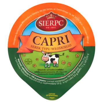 Serek Capri typu włoskiego - Sierpc. To klasyczny ser serwatkowy przypominający ricottę.