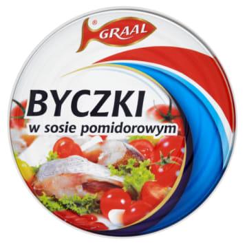 Byczki w pomidorach - Graal. Niezwykle bogaty smak oraz doskonały składnik różnych dań.