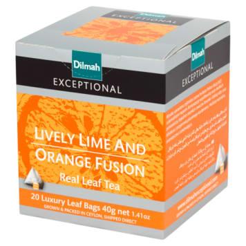 Herbata Lively Lime&Orange Fusion Dilmah to czarna herbata z nutami cytrusów