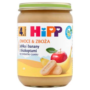 Hipp – Owoce & Zboża Jabłka i banany z biszkoptami bio -