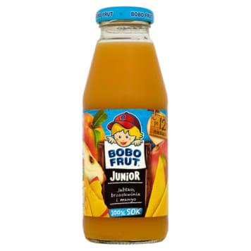 BOBO FRUT Sok jabłko multiowocowy - Od 1 do 3 lat 300ml - z jabłkiem, mango, brzoskwinią.