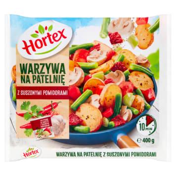 Warzywa na patelnię  - Hortex. Niepowtarzalna mieszanka warzyw na patelnię z suszonymi pomidorami.