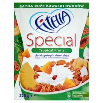 Płatki z owocami – Fitella to pyszne śniadanie z owocami tropikalnymi.