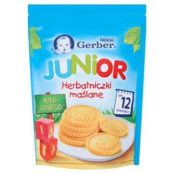 Gerber - Herbatniczki maślane Junior po 1. roku życia. Zaspokoją apetyt malucha.