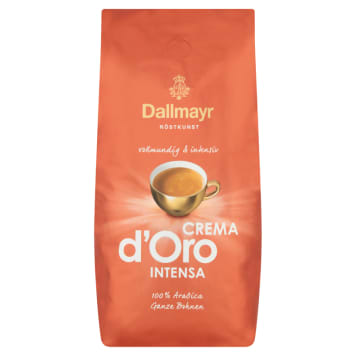 Kawa ziarnista Crema d'Oro Intensa, 1000g – Dallamayr. Z wyselekcjonowanych gatunków Arabiki.
