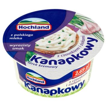 Twarogowy serek do kanapek z czosnkiem i ziołami - Hochland - pyszny do kanapek