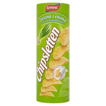 Chipsy zielona cebulka ze szczypiorkiem. Smakowita przekąska.