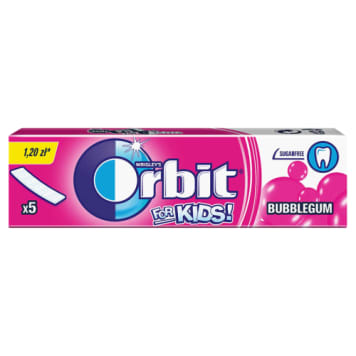 Orbit – guma do żucia dla dzieci 5 listków. Orbit to bezcukrowa guma do żucia,