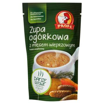 Profi - Zupa ogórkowa z mięsem wieprzowym. Smaczna i szybka do przygotowania zupa.