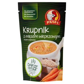 Profi - Zupa Krupnik z mięsem wieprzowym 450g. Pyszne i błyskawiczne danie.