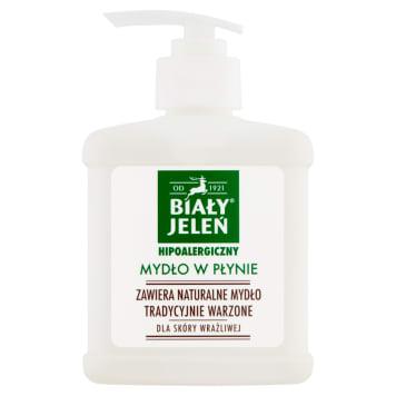 Biały Jeleń - Hipoalergiczne mydło w płynie. Skóra gładka i przyjemna w dotyku.